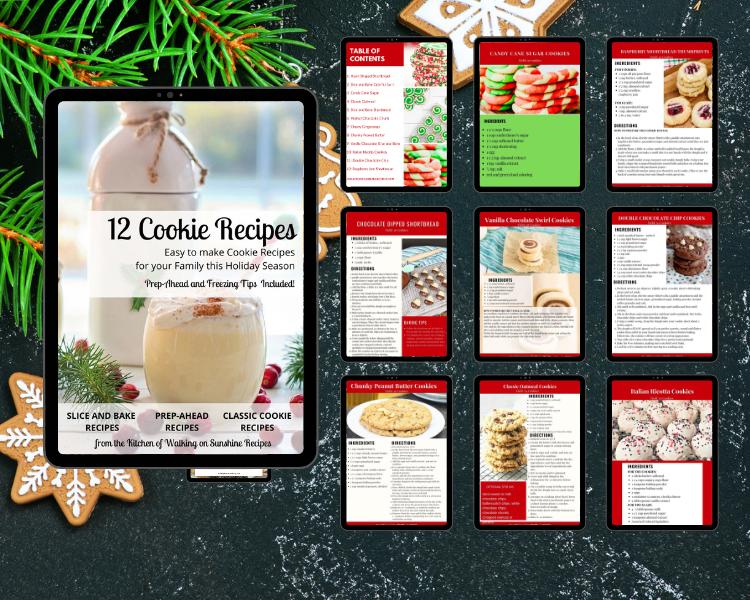 Christmas Cookies Ebook Mockup