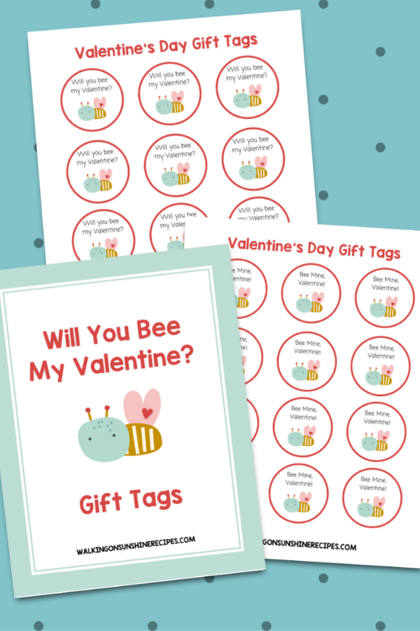 Bee My Valentine Gift Tags