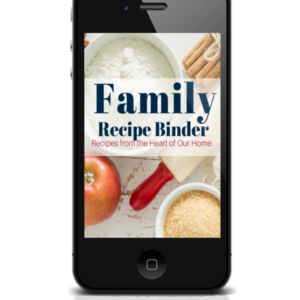 Family Recipe Binder